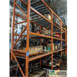 """SECTIONS 42"""" X 96"""" X 14' HIGH PALLET RACK WITH DECKING"""