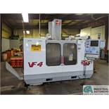 """HAAS MODEL VF4 CNC VERTICAL MACHINING CENTER; S/N 22125, 18"""" X 52"""" TABLE, 20 POSITION AUTOMATIC TOOL"""