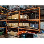 """SECTIONS 42"""" X 96"""" X 12' HIGH PALLET RACK WITH DECKING"""
