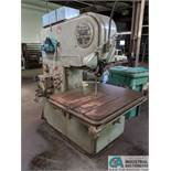 "20"" DOALL MODEL MP-20 VERTICAL BAND SAW; S/N 32-53711, BLADE WELDER, 32"" X 41"" TABLE"