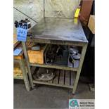 STEEL TABLE WITH TOOL CHANGER FIXTURE