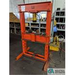 "32"" WIDE H-FRAME PRESS WITH ENERPAC RC506 HYDRAULIC RAM AND ENERPAC P464 POWER RACK"