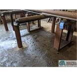 (LOT) HD STAND ALONE CONVEYOR BEHIND WELLSAW - NO CUTTING OF UPRIGHTS CONCRETED IN