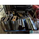 (LOT) ASSORTED STEEL ROLL ON CART AND ON RACK - NO RACK