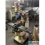 """2 HP CHEVALIER 8-SPEED VERTICAL MILL (80-2,720 RPM), ptf, 9"""" X 42"""" TABLE"""