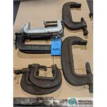 (LOT) ASSORTED C-CLAMPS