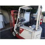 Nissan 4300lbs Battery Operated 36v Triple Mast Lift Truck