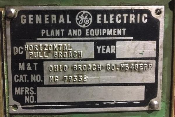 "Ohio Horizontal Broaching Machine | 5-Ton x 48"", Mdl: H548RR, S/N: 18125-76 - 8429P - Image 13 of 15"