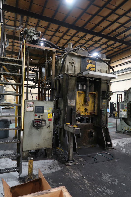 "1979 Erie Straight Side Hydraulic Press | 1,000-Ton x 42"" x 42"", Mdl: #1000, S/N: 29-1369 - 8373P - Image 2 of 9"
