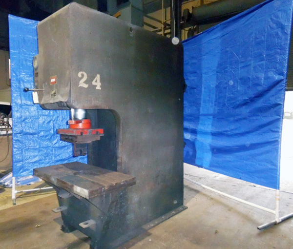 "HTC Hydraulic C Frame Press | 75 Ton x 48"" x 24"", Mdl: 200 CF, S/N: 1072C031 - 7838P - Image 3 of 6"