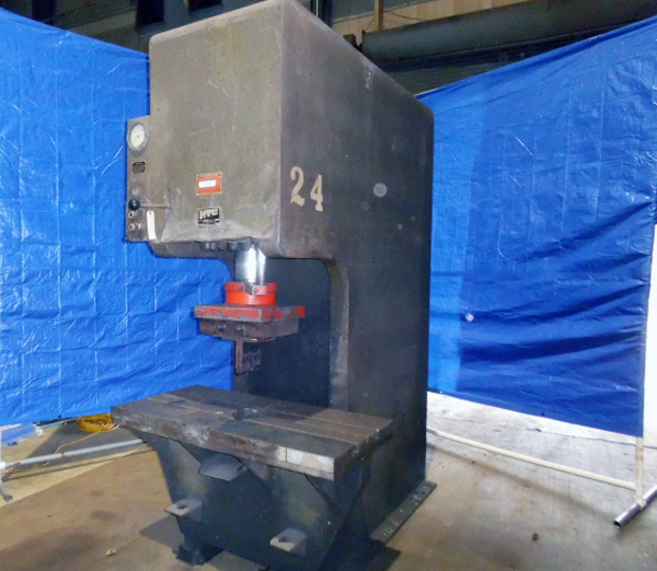 "HTC Hydraulic C Frame Press | 75 Ton x 48"" x 24"", Mdl: 200 CF, S/N: 1072C031 - 7838P"