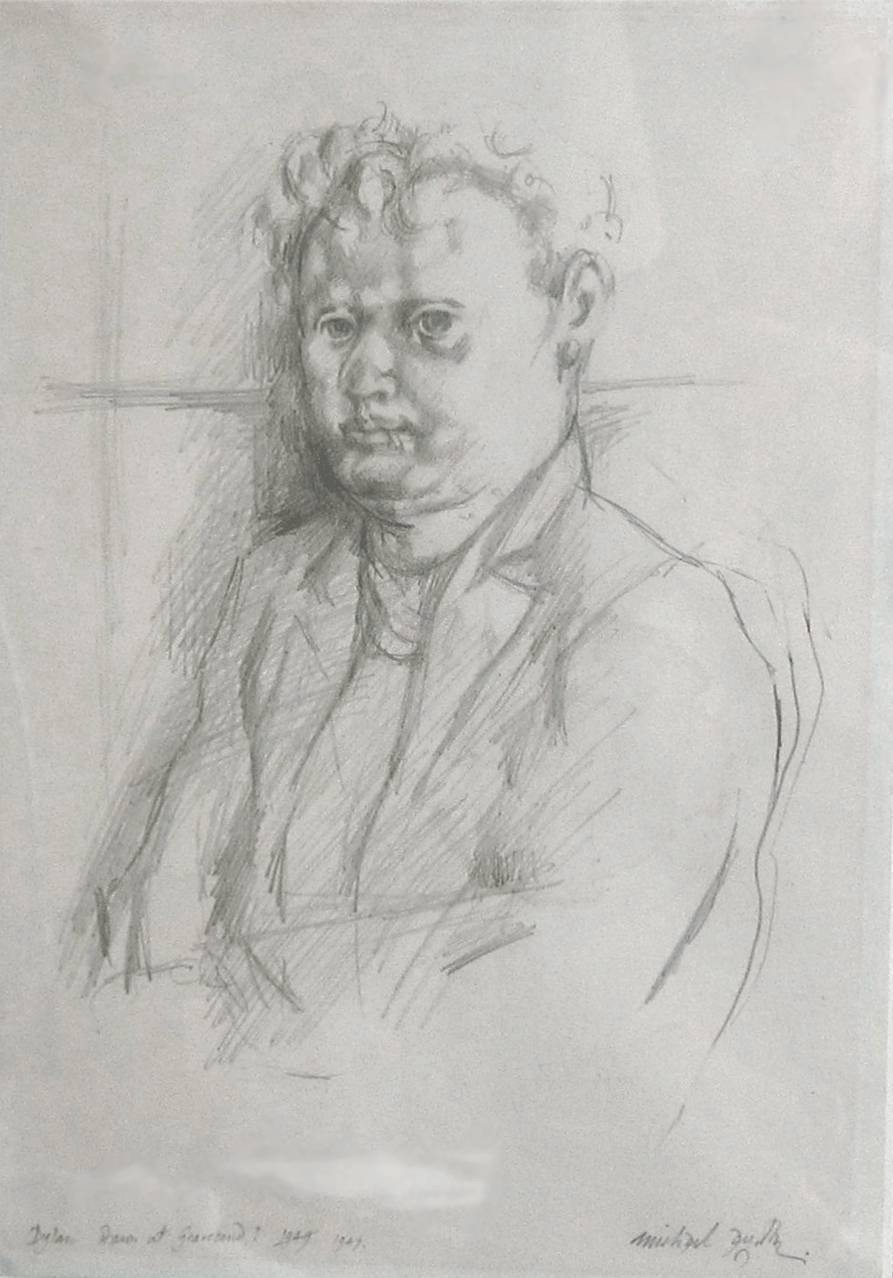 Lot 49 - MICHAEL AYRTON [1921-75]. Dylan Thomas [Dawn at Gravesend], 1947. Pencil. Signed, dated and