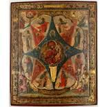 ICON (XIX - XX). Maria with Jesus.31 cm x 26 cm. Painting. Mixed media. Russia? Saint Petersburg