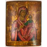 Icon (XVIII / XIX). Mother of God with Jesus.50 cm x 40 cm. Painting. Mixed media. Russia?IKONE (