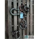 (LOT) MISC. SHACKLES
