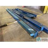 "SMALL STATIONARY GANTRY SYSTEM; (4) 20' X 8.5"" UPRIGHTS, (2) 15' X 12"" HEADER BEAMS - NO HARDWARE,"