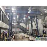 "APPROX. 30 TON ROUND TUBULAR ROLLING GANTRY SYSTEM; (2) 176"" O.A. LENGTH X 25"" HIGH MOTORIZED TRUCKS"