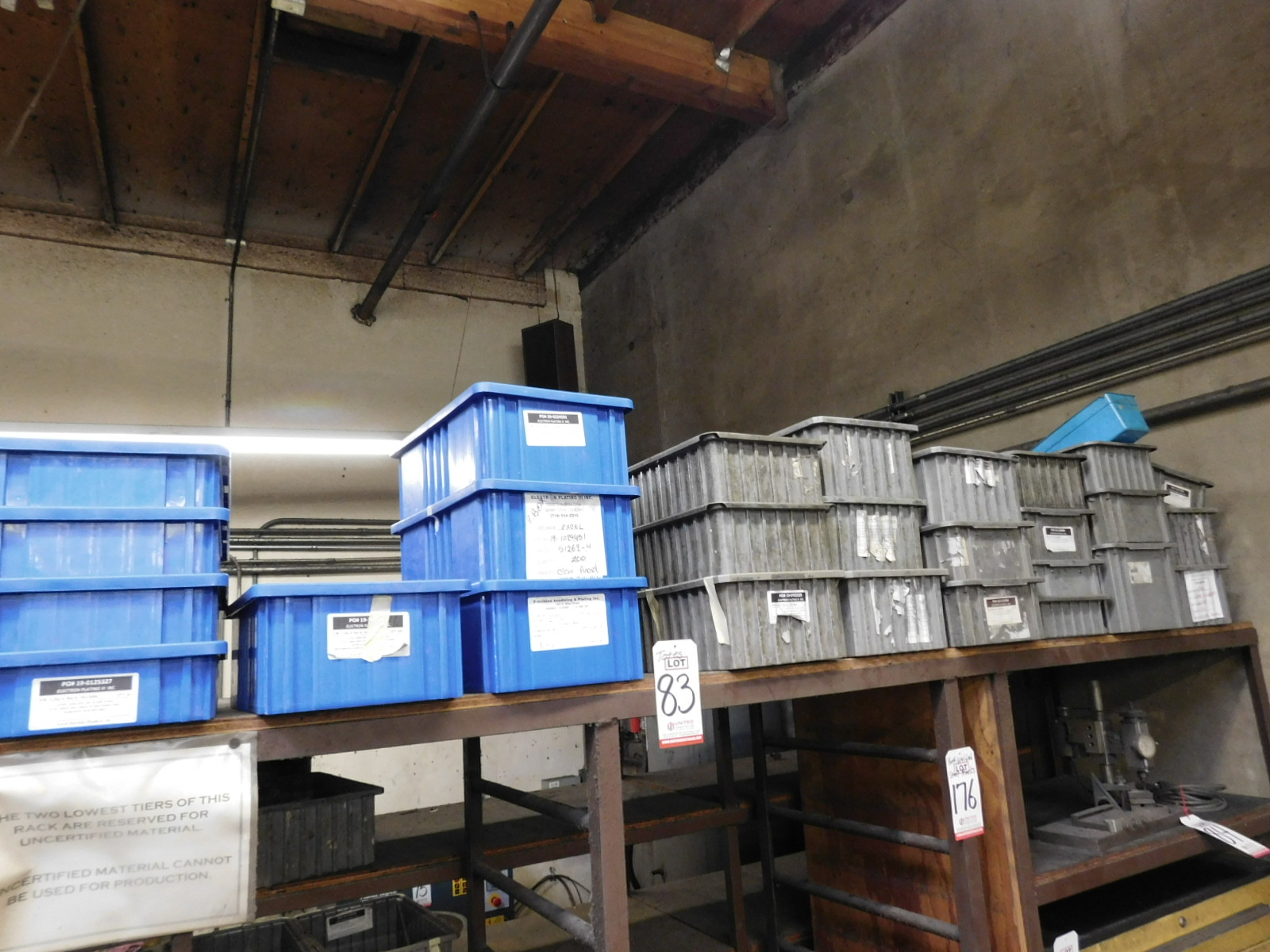 LOT - APPROX. (40) MID-SIZED PLASTIC TOTES