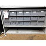 LOT - 18-DRAWER CUBBYHOLE PARTS CABINET, W/ CONTENTS TO INCLUDE: PIN & PLUG GAGES, CUTTING