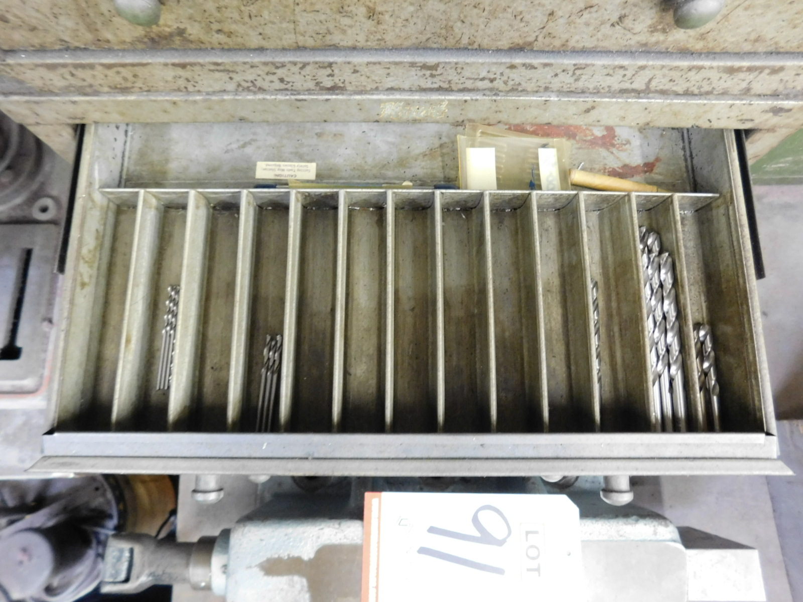 LOT - (3) STACKABLE DRILL INDEX DRAWER BANKS, W/ CONTENTS - Image 5 of 8
