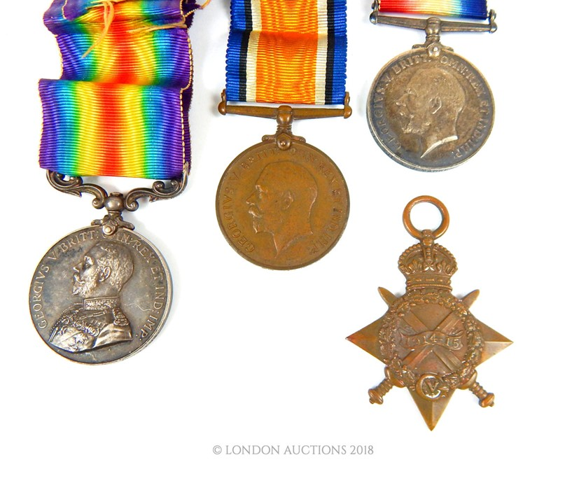 Lot 1 - Four WWI medals, including a medal for Bravery In The Field