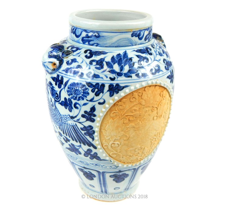 Lot 41 - A Chinese Ming style blue and white vase