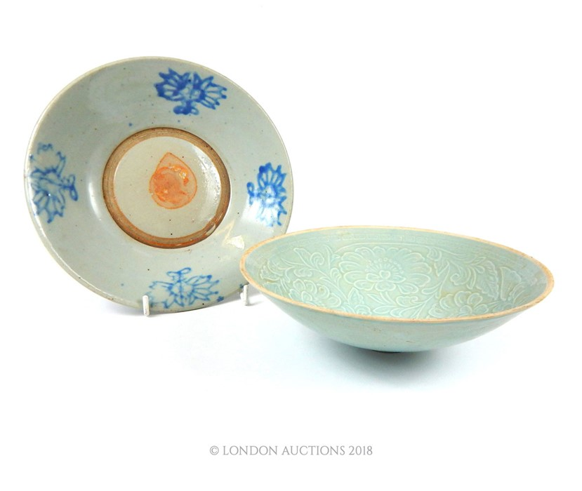 Lot 18 - A Chinese Song style Qingbai bowl and a dish