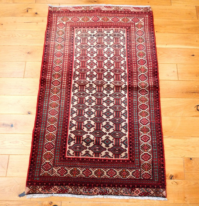 Lot 36 - A north Persian Bokhara type finely woven rug