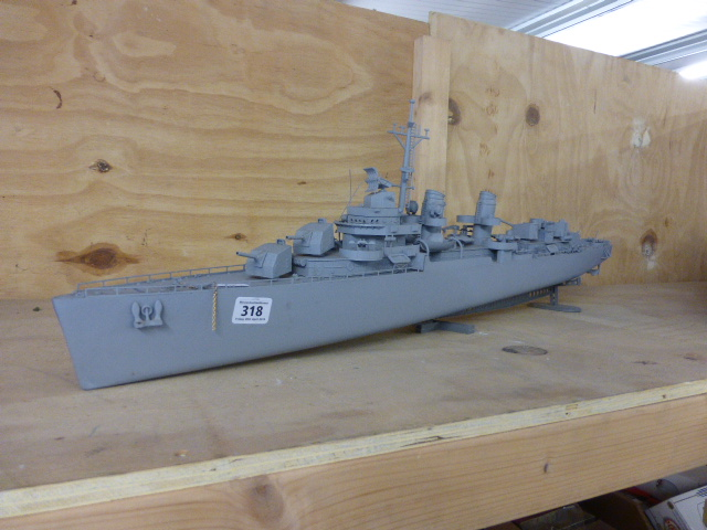 Plastic model warship 1/125 Blue Devil Destroyer USS Melvin