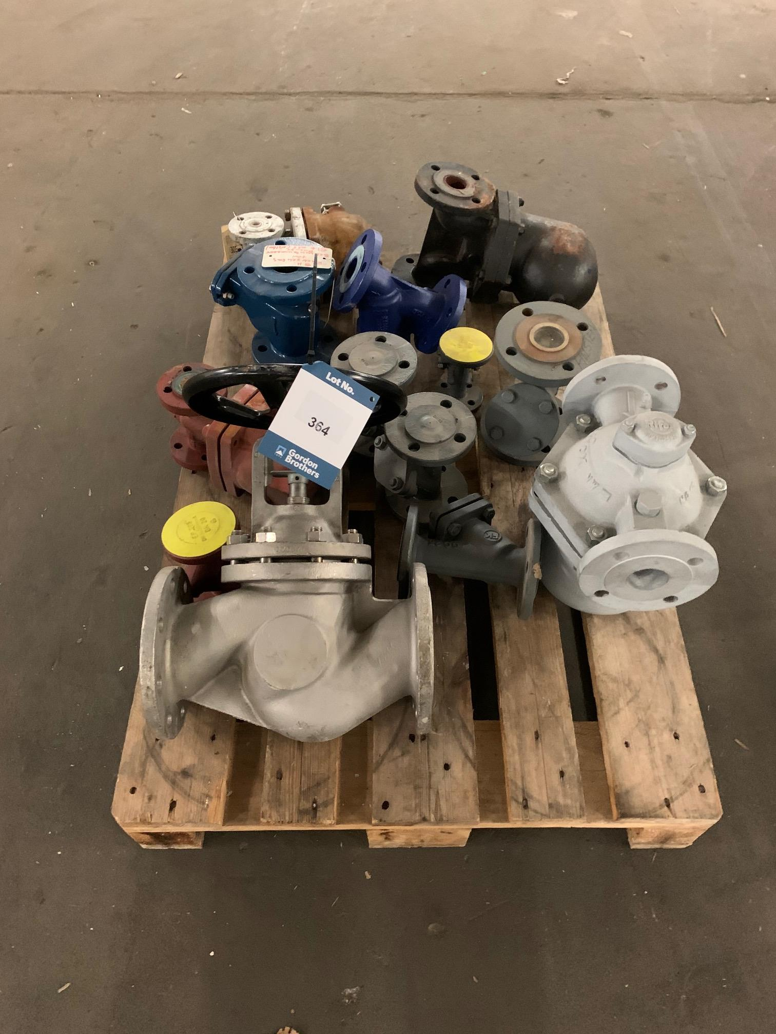 Lot 364 - 1 x Euro pallet with valves and connections.