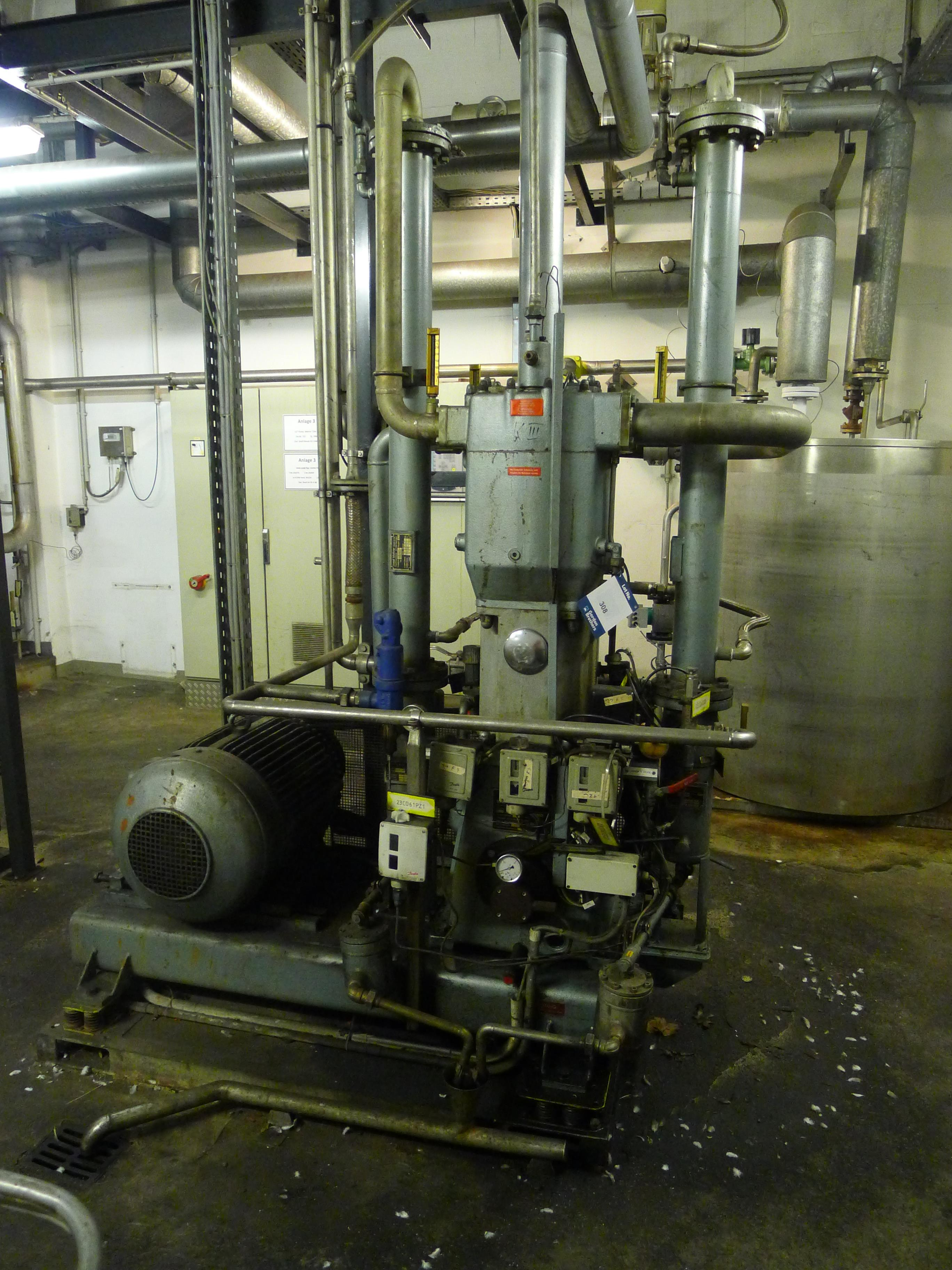 Lot 308 - Josef Mehrer Type TZW-60 Two Stage Water Cooled Compressor S/N 722 (Dismantling and Loading Fee: €