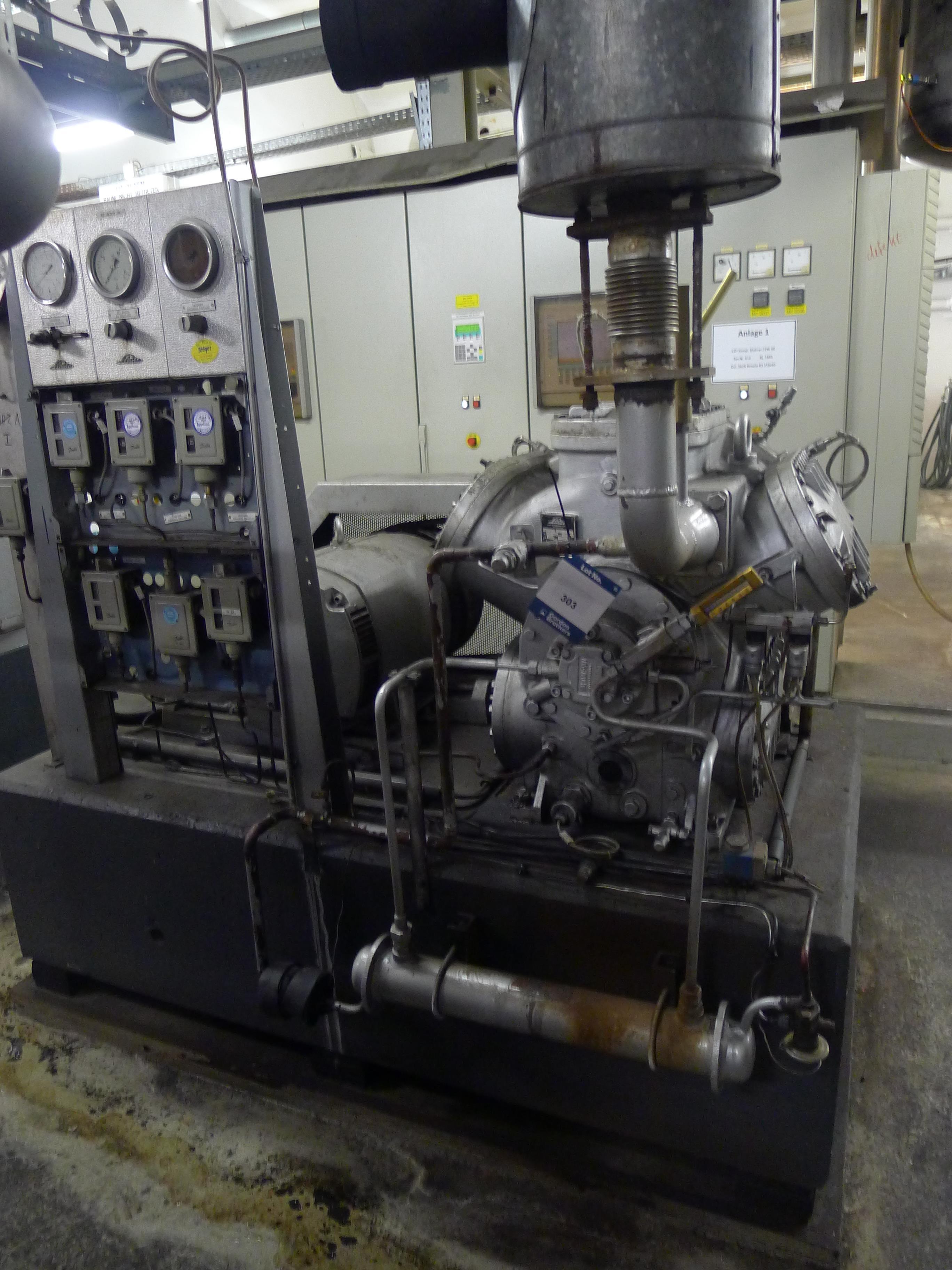 Lot 303 - Linde AAD6270 HKW VERC Cooling Compressor S/N D6387 (Dismantling and Loading Fee: €450)