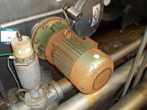 Lot 60 - Tuchenhagen stainless steel 19500 liter (5158 gallon) capacity CIP tank Horizontal on legs. New 1995