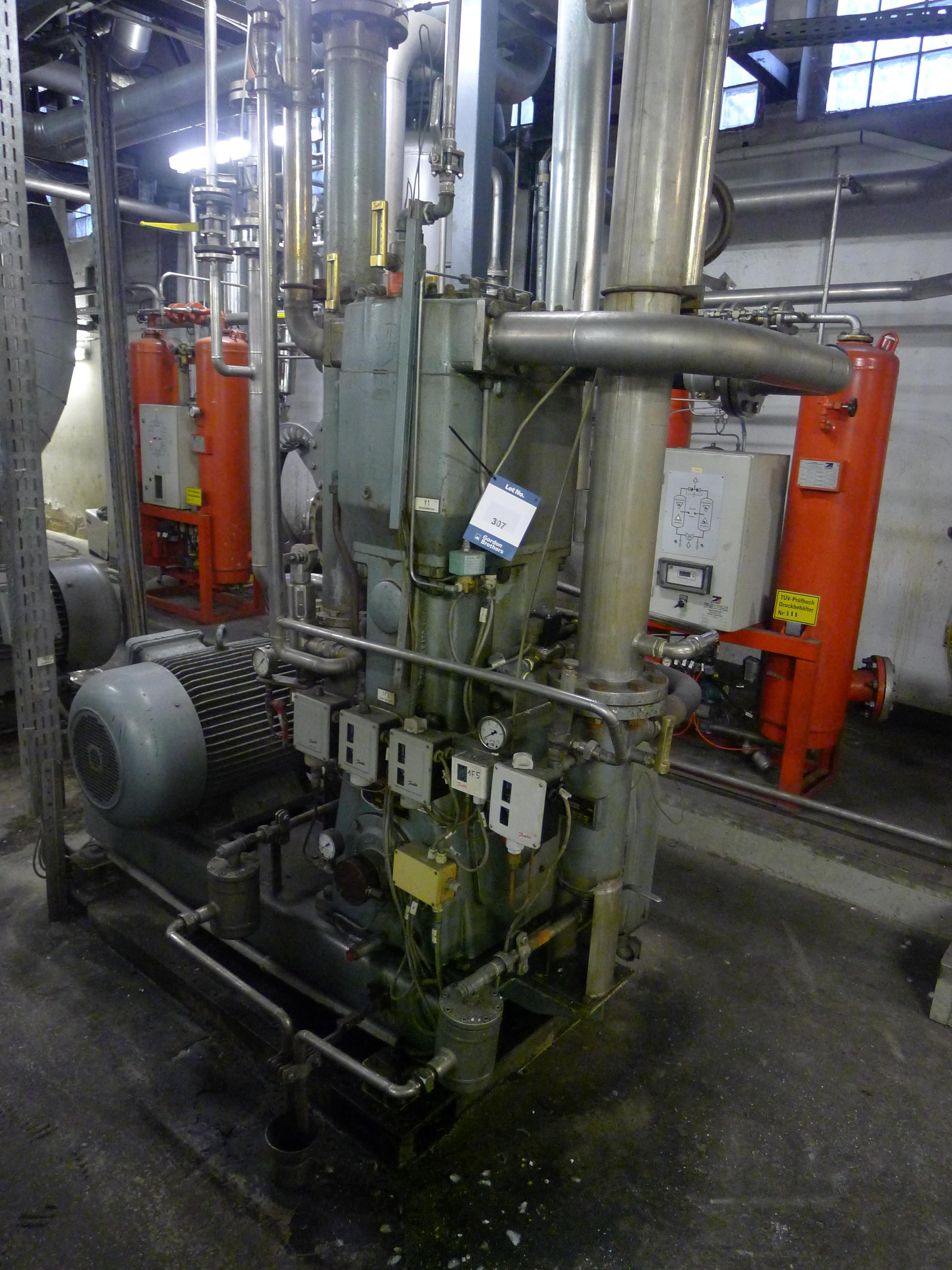 Lot 307 - Josef Mehrer Type TZW-60 Two Stage Water Cooled Compressor S/N 60 (Dismantling and Loading Fee: €