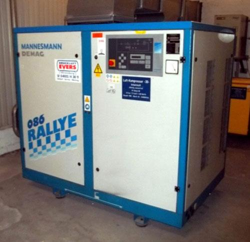 Lot 151 - Mannesmann Demag Screw Compressor, Type RA-086, 7.3 M3/minute. Serial# 349008/544, New 1996. (