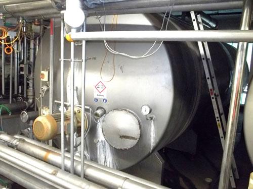 Lot 58 - Tuchenhagen stainless steel 19500 liter (5158 gallon) capacity CIP tank Horizontal on legs. New 1995
