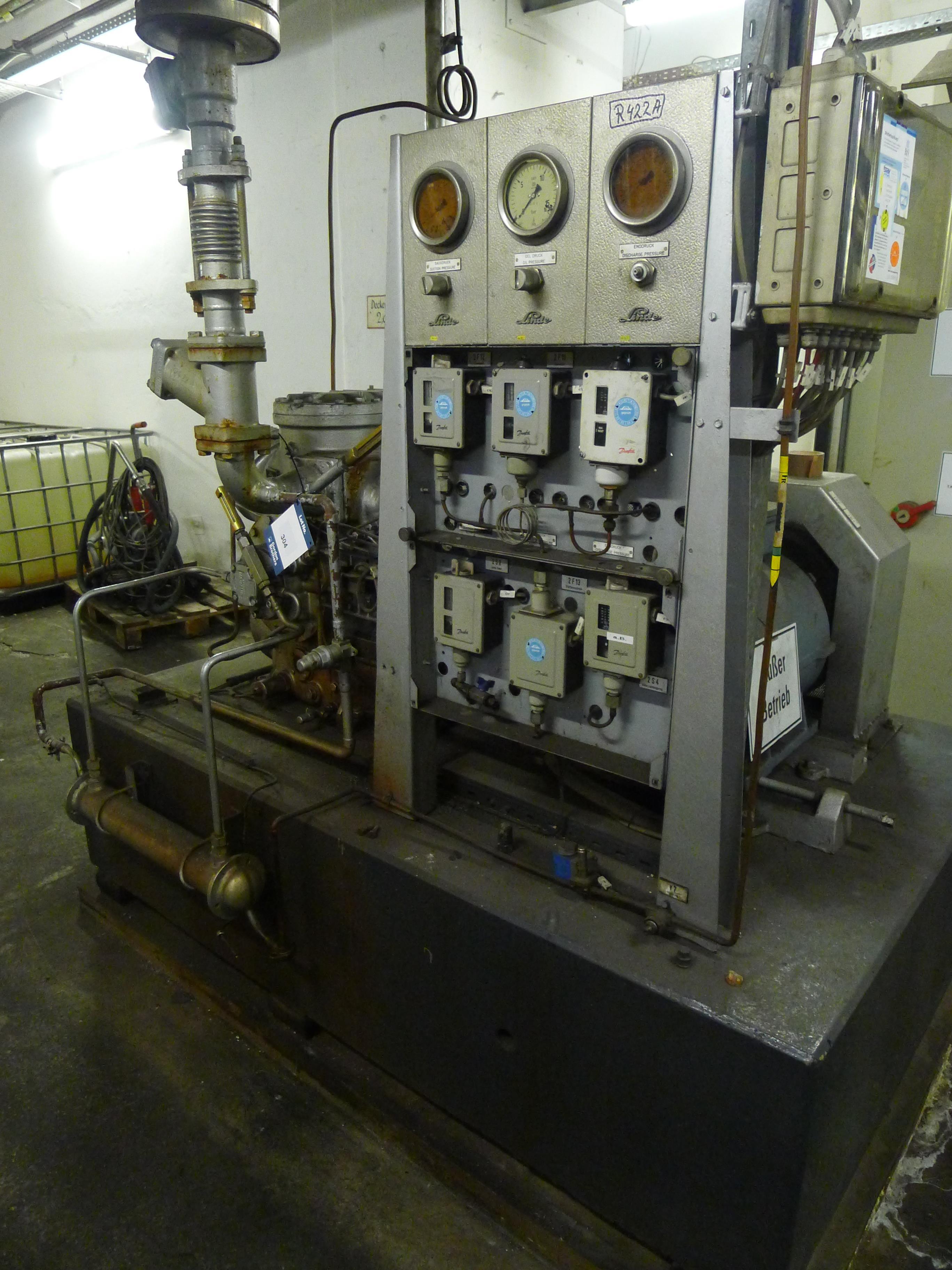 Lot 304 - Linde AAD6270 HKW VERC Cooling Compressor S/N D6305 (Dismantling and Loading Fee: €450)
