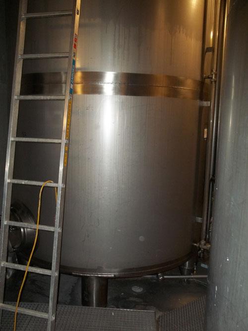 Lot 182 - Tuchenhagen Tank, 130 Hectoliter (3434 Gallon), Type T20/40, Stainless Steel, Vertical. Rated 1