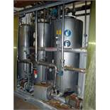 CIP System Consisting Of: (2) approximate 1040 liter stainless steel tanks, (1) approximate 1324