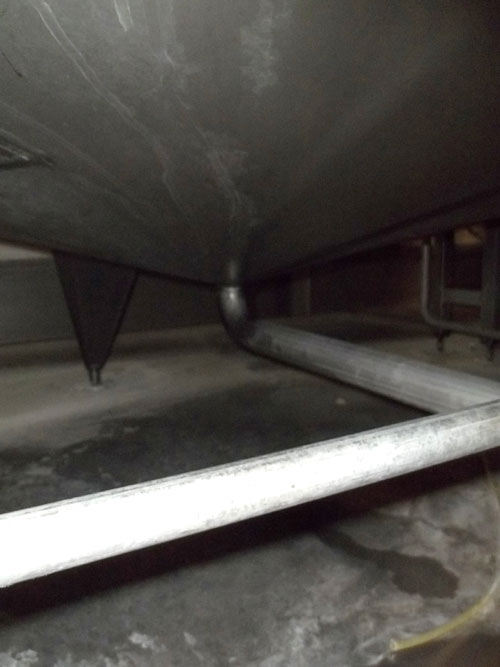Lot 164 - Alfa-Laval Tank, 10000 Liter (2641 Gallon), Type TV, Stainless Steel, Vertical. Coned bottom.