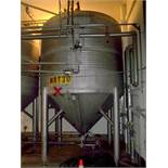 Alfa Laval type ZKH 3624 gallon/13700 liter capacity stainless steel tank. Rated for 3 bar (45