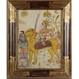 A PAINTING OF GODDESS DURGA, INDIA, RAJASTHAN, 19TH CENTURY