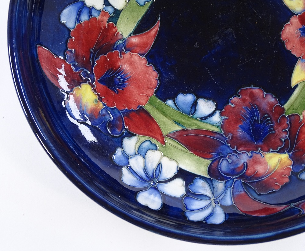 Lot 48 - A Moorcroft Pottery Iris design bowl, diameter 28c