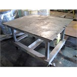 WELDING TABLE, 4' x 3', H.D., on casters