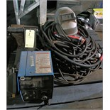 MICROPROCESSOR CONTROLLED WIRE FEEDER, MILLER 60M SERIES, w/extra welding leads