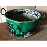 Galvanised metal bowl