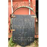 Vintage reclaimed metal sign