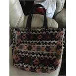 Designer Iris Large Aztec Weekend Shoulder bag...Leather handles and gold stud
