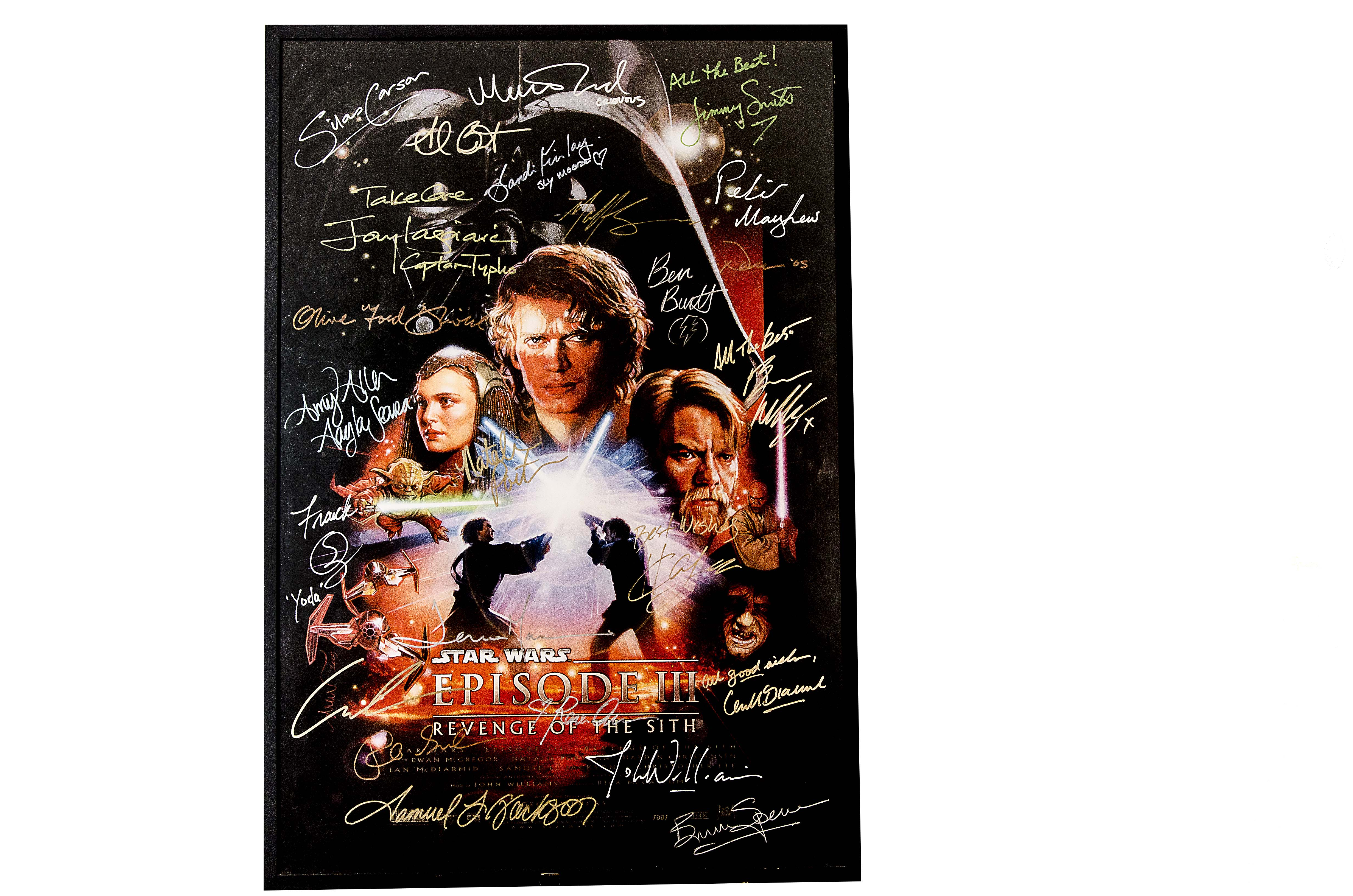 Star Wars Autographed Star Wars Episode 3 The Revenge Of The Sith Us One Sheet Ds Movie Poster