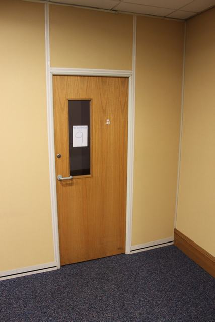 Auction ID 10369 Lot Number 9 Fire Rated Door With Glass Panel 825mm X 2